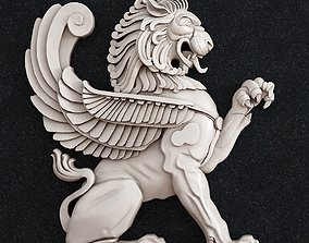 Lion Wall Architecture 3D printable model