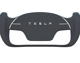 Tesla Roadster Steering Wheel 3D