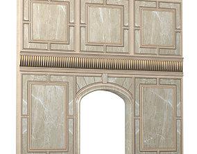 Art Deco Wall paneling 3D