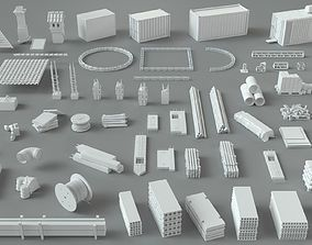 3D model Construction Pack- 66 pieces