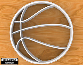 3D print model Basketball Ball Cookie Cutter lawn