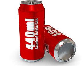 3D asset Drinks Can - 440ml Standard