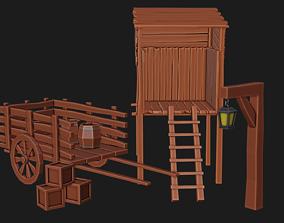 Wooden Medieval Pack 3D asset