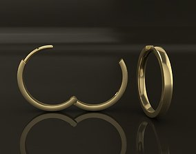 3D print model Earring Hoop MID SIZE 15mm Inside Diameter
