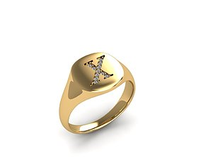 Jewelry Signature Ring 3D printable model cad