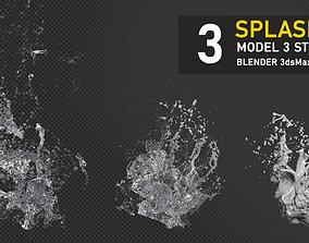 Water Splash 3D Model 3D model