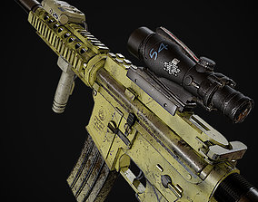 M4 Carabine 3D model scope