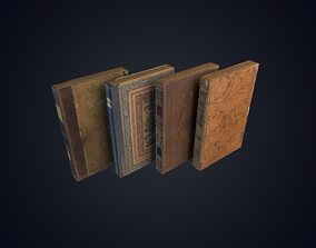Old Books Low Polygon 3D model