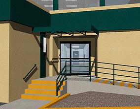 Hospital With Medical Equipment - Scrubs Sacred 3D model