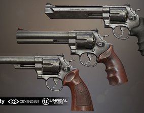 Smith and Wesson revolvers SET 3D model