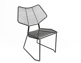 3D Modern Metallic Chair Casamania