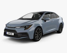 3D Toyota Corolla XSE US-spec sedan 2019