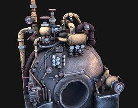 3D asset Steam Engine