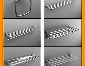 Towel racks collection 3D model