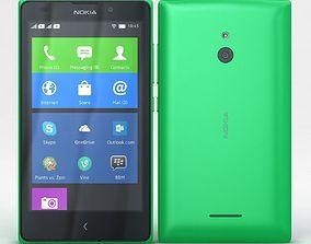 Nokia XL and XL Dual Bright Green 3D