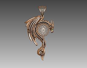 Dragon pendant jewelry 3D printable model