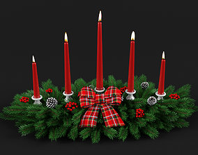 Christmas decoration candlelight 3D model