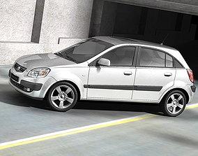 Kia Rio 2006 hatchback 3D
