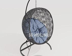3D artificial rattan Swing chair ayunan rotan