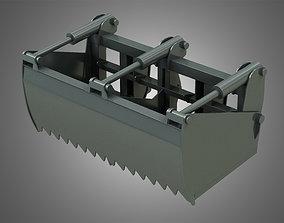 stack Silage Cutter - Front Loader 3D model