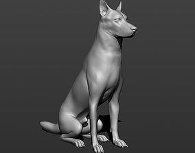 3D printable model German shepherd dog
