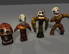 3D asset Horror statues pack