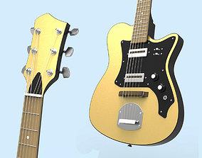 Custom Electric Guitar Hora Reghin 3D
