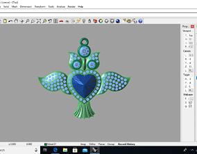 owl pendent 3D print model