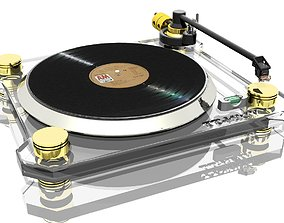 gramophone - turntable electronic 3D model