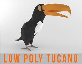 Tucano Bird Low Poly Tropical Toucan Animal 3D asset