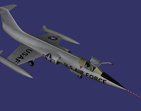 Lockheed F-104 Starfighter 3D model realtime