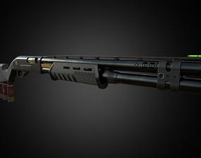 M870 Shotgun PBR 3D model VR / AR ready