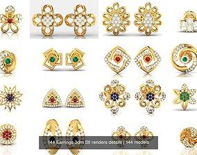 144 Earrings 3dm Stl renders details