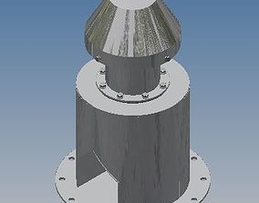 Tank or Silo Breather Valve 3D