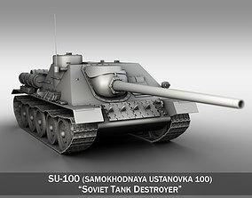 3D SU-100 - Soviet Tank Destroyer