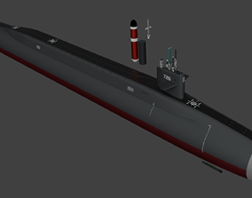 USS SLBM Type Ohio with Weapons 3D