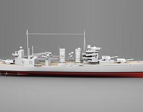 Watercraft 2 - Heavy Cruiser Ship 3D model