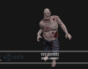 Fat Zombie 3D model rigged