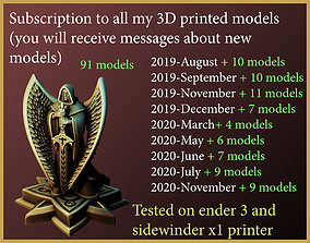 lifetime subscription to all my 3dprint models printed