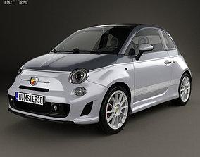 Fiat 500 C Abarth Esseesse 2010 3D model