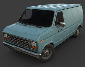 3D model game-ready Old Van