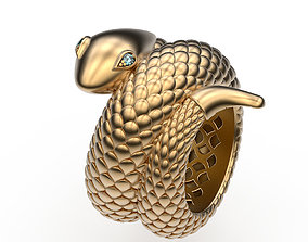 3D print model Ring Serpent