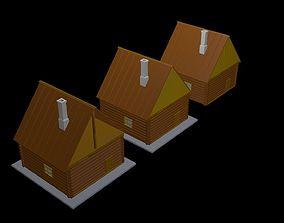 Wooden houses 3D