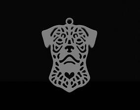 3D printable model Rottweiler pendant