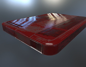 3D model External Hard Drive Low Poly Bloody - Gameready -
