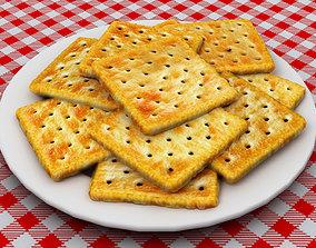 3D model realtime Cream Crackers