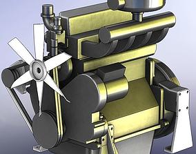 Tractor Diesel Engine 4105T 3D