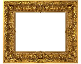 wall Carved Picture Frame 3D model