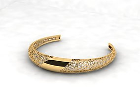 3D printable model Llightweight golden bracelet V2