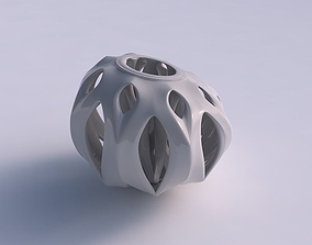 Vase with smooth cuts and support inside it 3D print model